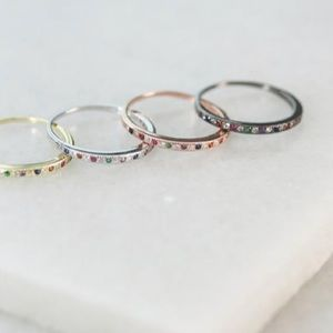 RKNYC rainbow pave packer ring